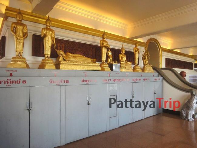 Лежащий Будда в храме Золотой горы