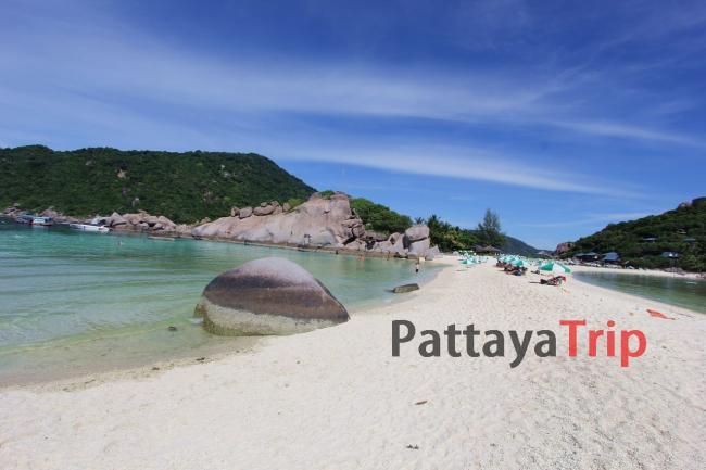 Остров Нанг Юань фото пляжа