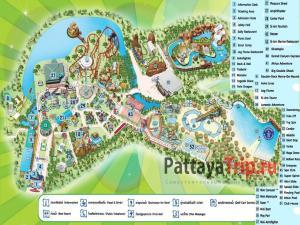 Карта Сиам парка