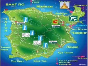 Карта Самуи на русском языке
