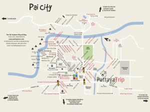 Карта центра города Пай